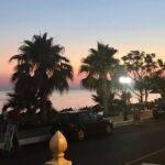 Sonnenuntergang am Vrachos Beach